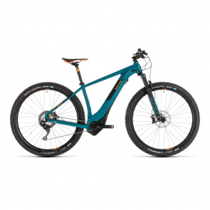 "Cube - Promo VTT Electrique 29"" Cube Reaction Hybrid SLT 500 Kiox Pinetree/Orange 2019 (234261)"