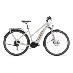 Cube - Promo Vélo Electrique Cube Touring Hybrid 400 Trapèze Gris/Orange 2019 (231110)