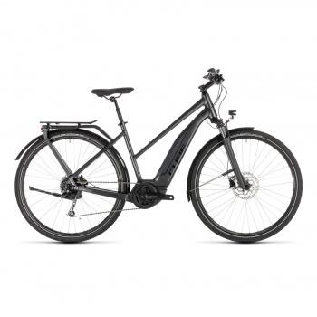 Vélo Electrique Cube Touring Hybrid 400 Trapèze Iridium/Noir 2019 (231100)