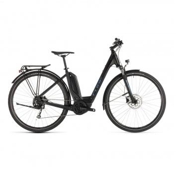 Vélo Electrique Cube Touring Hybrid One 400 Easy Entry Noir/Bleu 2019 (231050)