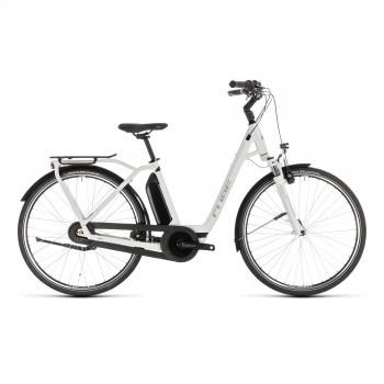 Vélo Electrique Cube Town Hybrid Pro 500 Easy Entry Blanc/Argent 2019 (232111)