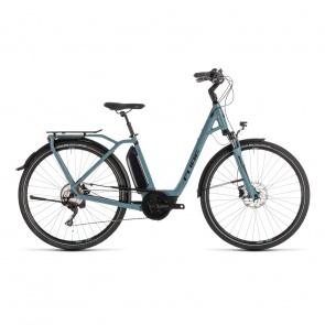 Cube 2019 Vélo Electrique Cube Town Sport Hybrid Pro 400 Easy Entry Bleu/Noir 2019 (232410)