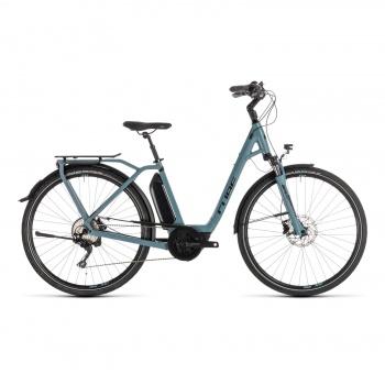 Vélo Electrique Cube Town Sport Hybrid Pro 400 Easy Entry Bleu/Noir 2019 (232410)