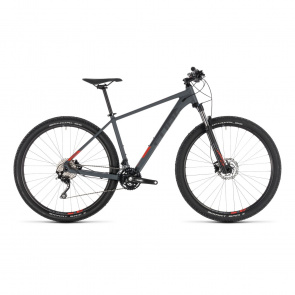 "Cube 2019 Cube Attention 27.5"" MTB Iridium/Rood 2019 (203100)"