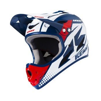 Kenny Downhill Helm Blauw/Rood 2019
