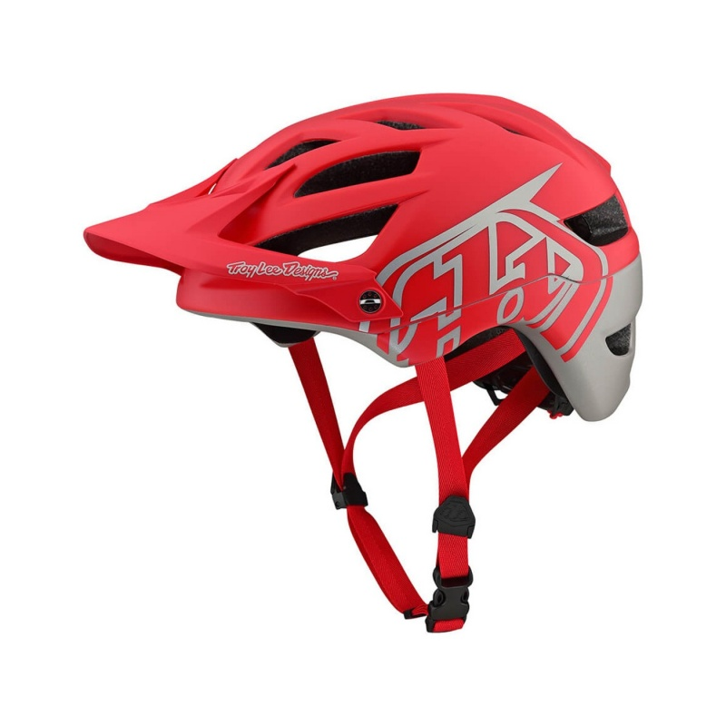 Casque Troy Lee Designs A1 MIPS Classic Rouge/Argent 2019