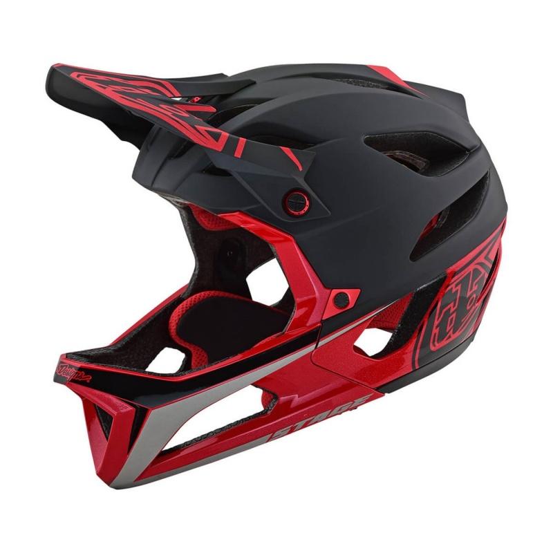 Troy Lee Designs Stage Race Helm Zwart/Rood 2019