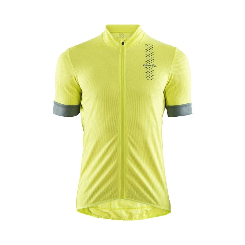 Maillot Manches Courtes Craft Rise Jaune/Gravity 2019