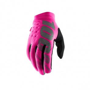 100% 100% Brisker Handschoenen voor Vrouwen Neon Roze/Grijs 2019