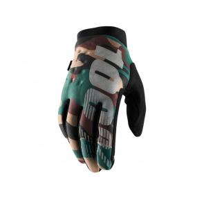 100% 100% Brisker Handschoenen Camo/Zwart 2019