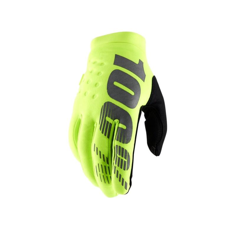 100% Brisker Handschoenen Fluo Geel/Zwart 2019
