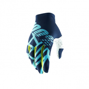 100% 100% Celium 2 Handschoenen Blauw/Fluo Geel 2019