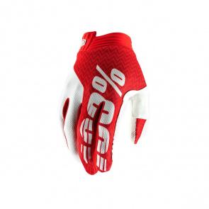 100% 100% iTrack Handschoenen Rood/Wit 2019