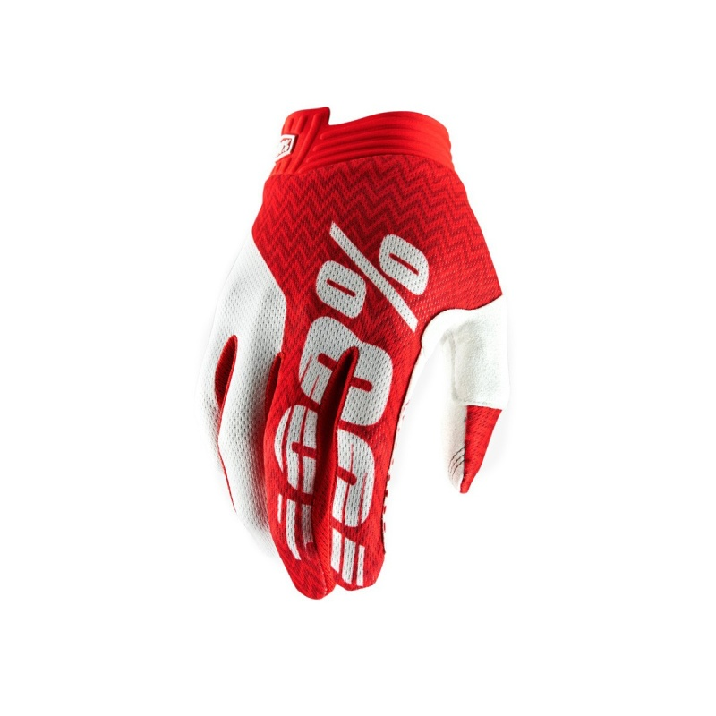 Gants 100% iTrack Rouge/Blanc 2019