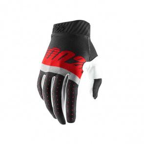 100% 100% Ridefit Handschoenen Grijs/Rood 2019