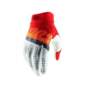 100% 100% Ridefit Handschoenen Rood/Fluo Oranje/Blauw 2019