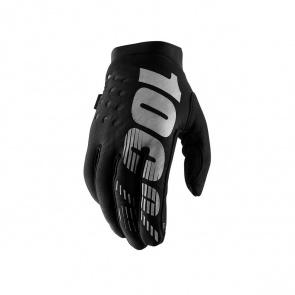 100% 100% Brisker Handschoenen voor Vrouwen Zwart/Grijs 2019