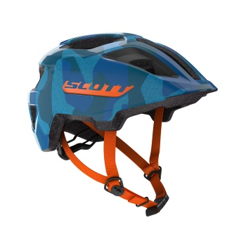 Scott Spunto Junior Helm Blauw/Oranje 2018