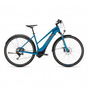 Cube - Promo Vélo Electrique Cube Cross Hybrid Race Allroad 500 Trapèze Bleu/Orange 2019 (230310)