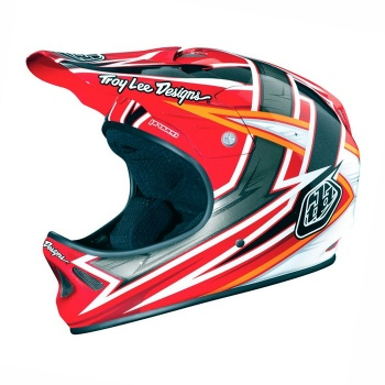 Troy Lee Designs D2 Proven Helm Rood