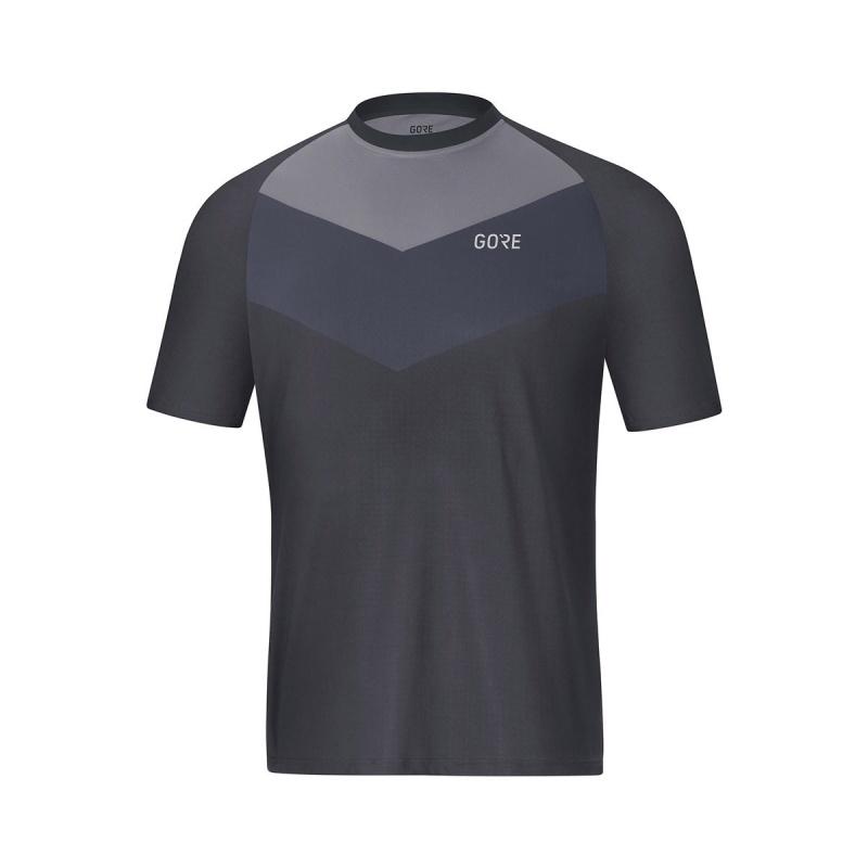Maillot Manches Courtes Gore Wear C5 Trail Gris Terra 2019