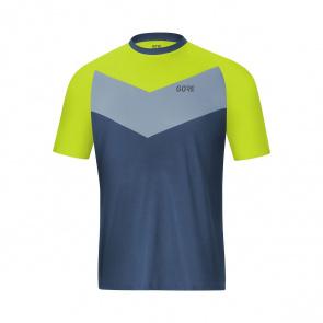 Gore Bike Wear Gore Wear C5 Trail Shirt met Korte Mouwen Deep Water Blauw/Citrus Groen 2019