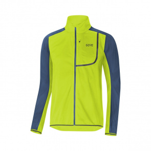 Gore Bike Wear Veste Gore Wear C3 Windstopper Vert Citrus/Bleu Deep Water 2019