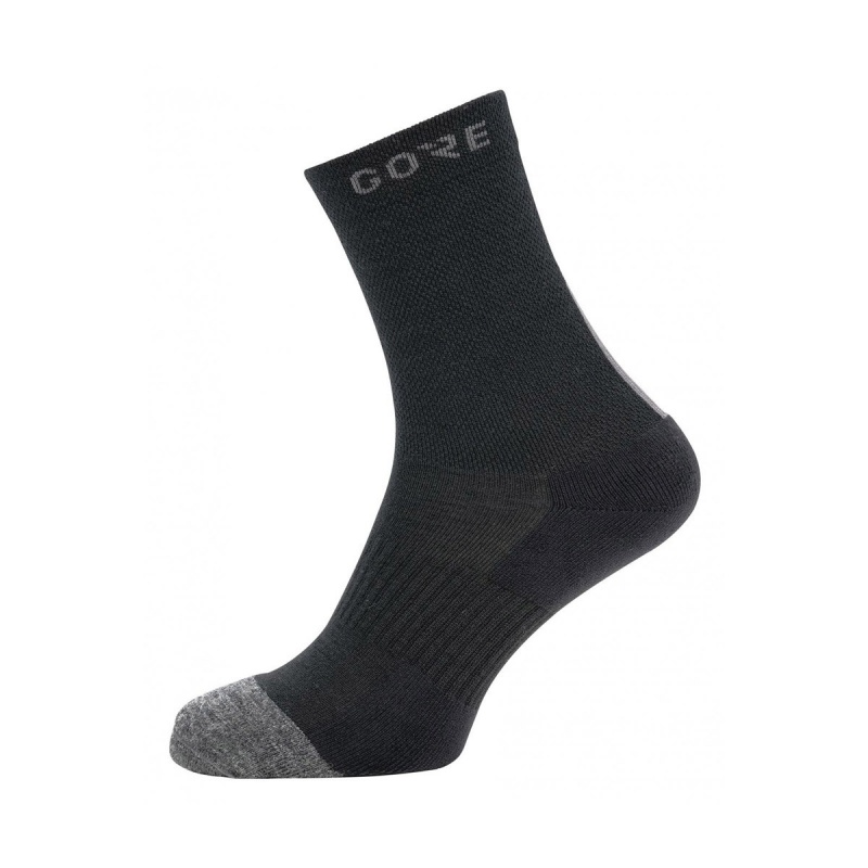 Chaussettes Gore Wear Thermo Mid Socks Noir/Gris 2020-2021