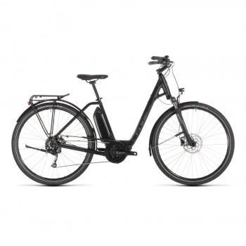 Vélo Electrique Cube Town Sport Hybrid One 400 Easy Entry Noir/Gris 2019 (232350)