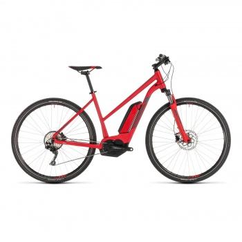Vélo Electrique Cube Cross Hybrid Pro 500 Trapèze Rouge/Gris 2019 (230211)