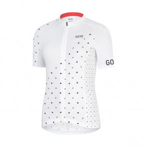 Gore Bike Wear Maillot Manches Courtes Femme Gore Wear C3 E Blanc/Noir 2019
