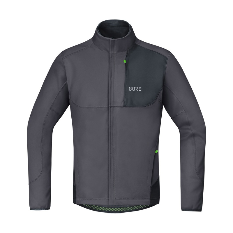Veste Gore Wear C5 Windstopper Thermo Trail Gris Terra/Noir 2019-2020