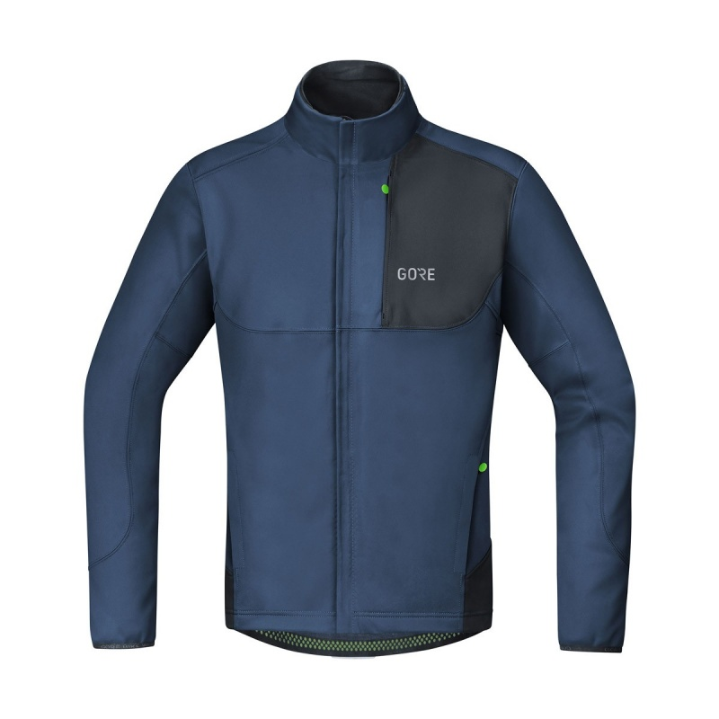 Veste Gore Wear C5 Windstopper Thermo Trail Bleu/Noir 2019-2020