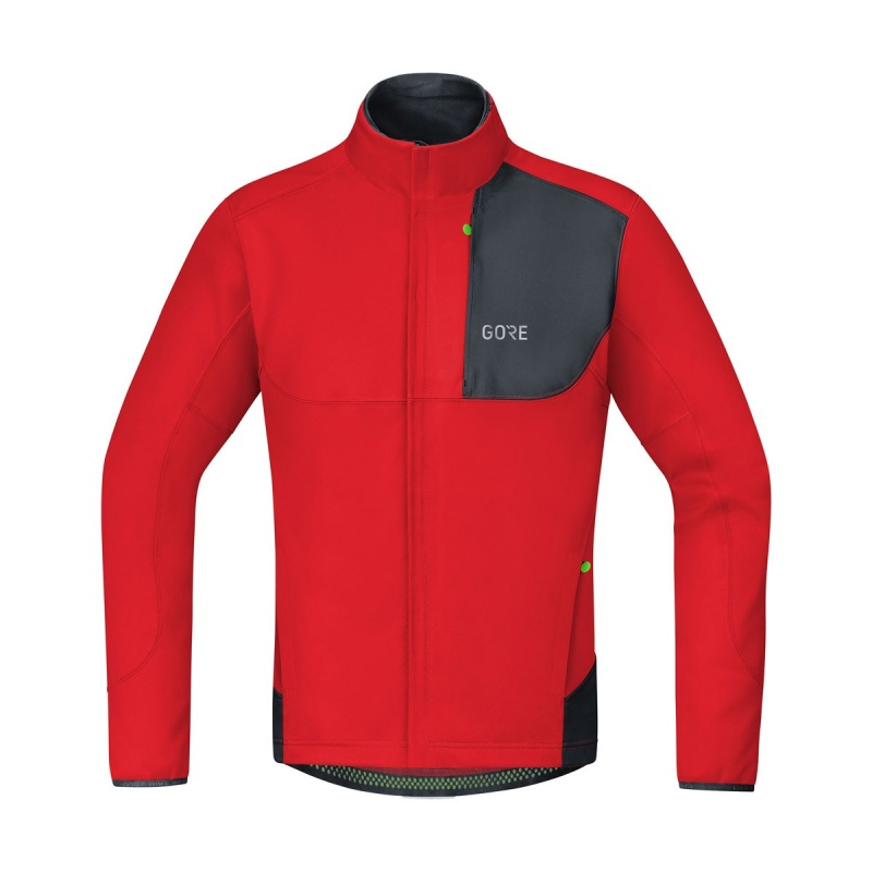 Veste Gore Wear C5 Windstopper Thermo Trail Rouge/Noir 2019-2020