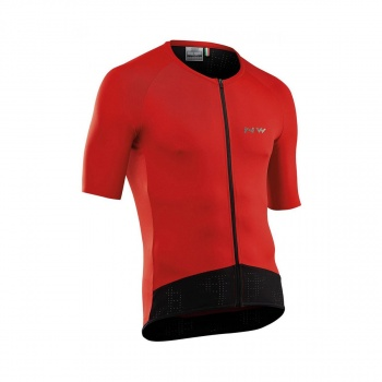 Maillot Manches Courtes Northwave Essence Rouge 2019