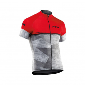 Northwave Maillot Manches Courtes Northwave Origin Rouge/Gris 2019