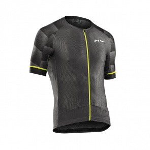 Northwave Maillot Manches Courtes Northwave Storm Air Graphite/Jaune 2019