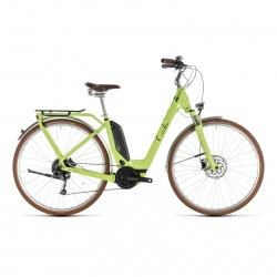 Cube - Promo Vélo Electrique Cube Elly Ride Hybrid 400 Easy Entry Vert/Noir 2019 (232510)