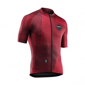 Northwave Maillot Manches Courtes Northwave Abstract Rouge Rouille 2019