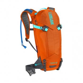 Camelbak T.O.R.O. 8 (5L/3 L) Protector Hydratatierugzak met Rugbeschermer Rood Oranje/Anthraciet 2019