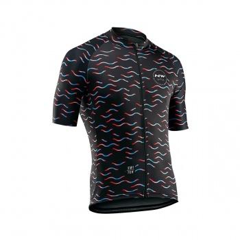 Northwave Wave Shirt met Korte Mouwen Zwart 2019