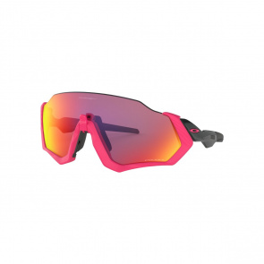 Oakley Lunettes Oakley Flight Jacket Neon Pink - Verre Prizm Road