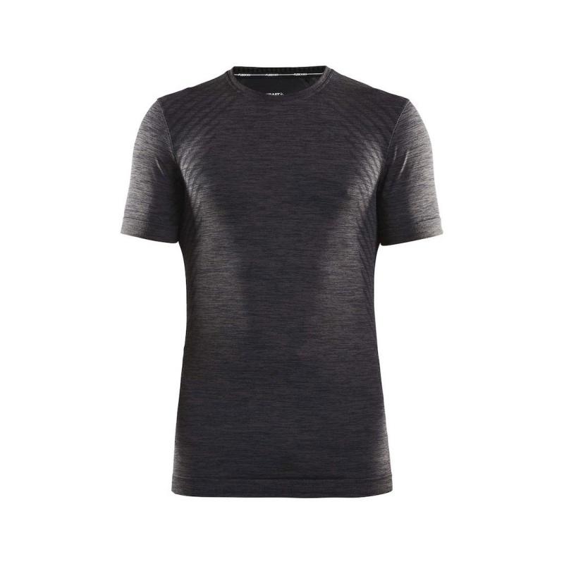 Sous-vêtement Manches Courtes Craft Fuseknit Comfort Noir Mélange 2019