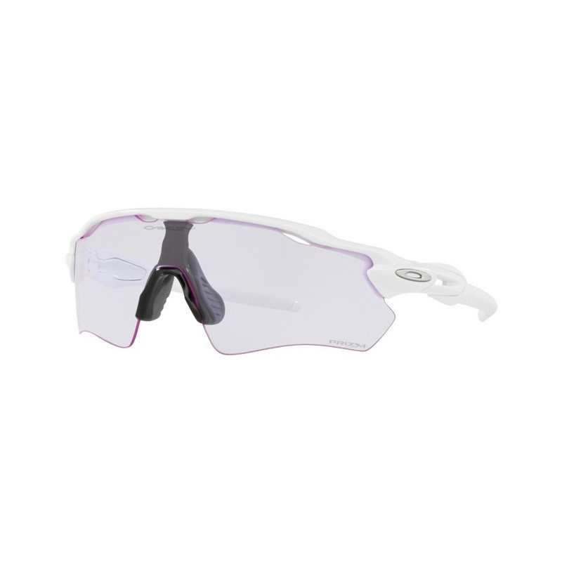 Lunettes Oakley Radar EV Path Blanc Brillant - Verre Prizm Low Light