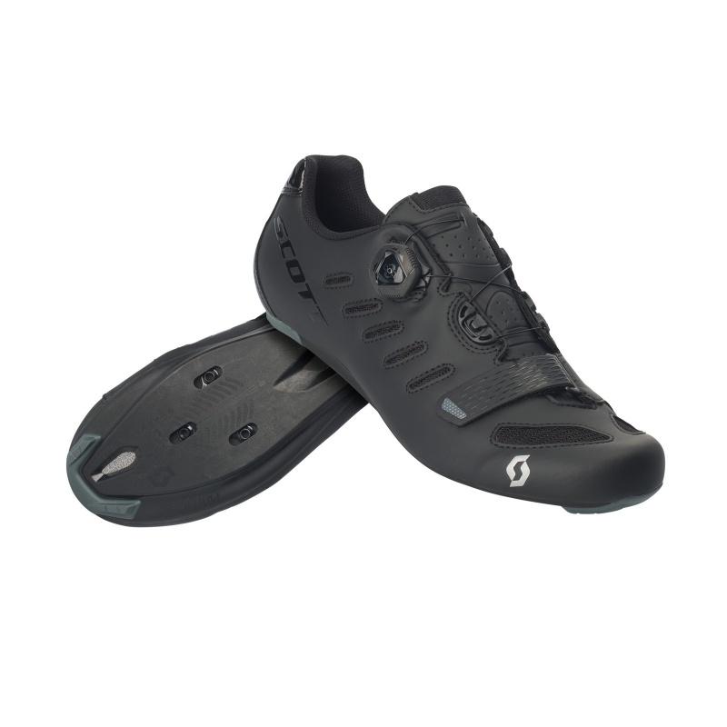 Chaussures Route Scott Team Boa Noir Mat/Noir Brillant 2019