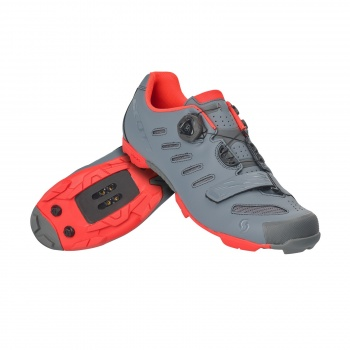 Chaussures VTT Scott Team Boa Gris Cool/Orange Néon 2019