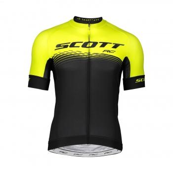 Scott RC Pro Shirt met Korte Mouwen Sulphur Geel/Zwart 2019