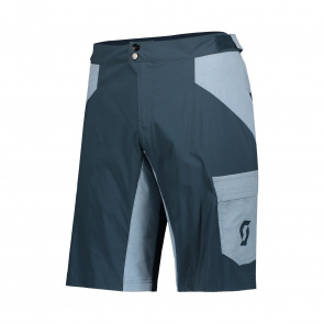 Scott textile Scott Trail Flow Short met Zeem Nightfall Blauw 2019