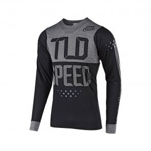 Troy Lee Designs Maillot Manches Longues Troy Lee Designs Skyline Speedshop Noir/Gris 2019