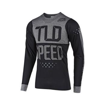 Troy Lee Designs Skyline Speedshop Shirt met Lange Mouwen Zwart/Grijs 2019